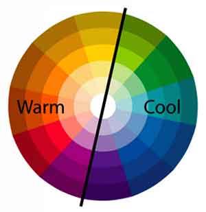 Colour temperature   cold cool warm