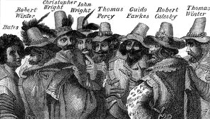 Guy Fawkes and conspirators