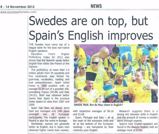 Spanish English language skills
