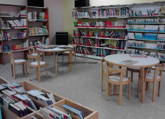 Children's section - local library in Spain