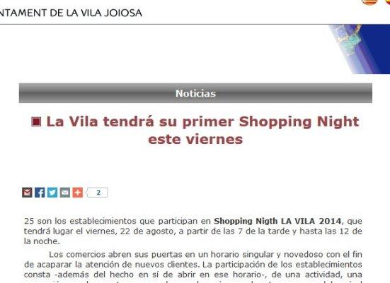 Shopping Night 2014, Villajoyosa.